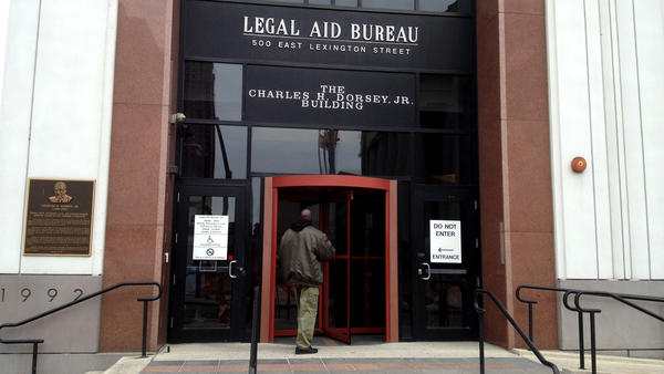 At Maryland's Legal Aid Bureau in Baltimore, the doors are open every Monday, Wednesday and Friday. It serves as a kind of legal emergency room for people who need help but can't afford a lawyer.