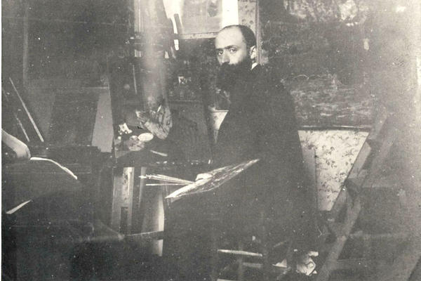 """I don't do portraits,"" Vuillard once said. ""I paint people in their surroundings."" He is show here in his studio at 56 Rue des Batignolles, Paris, circa 1898."