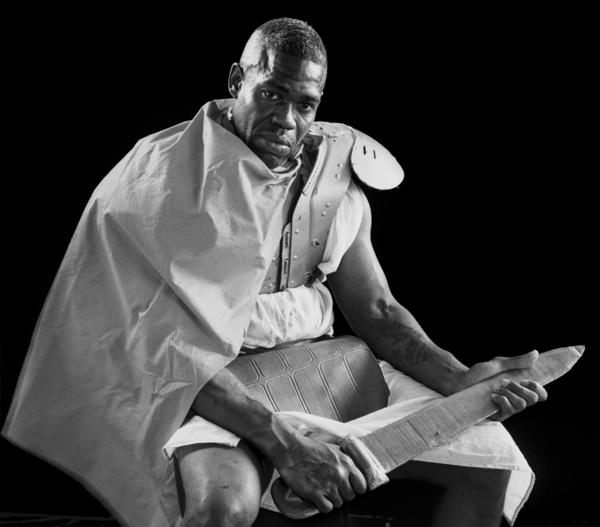 Terrence Williams plays a Roman soldier in <em>The Life Of Jesus Christ</em>, a play at the Louisiana State Penitentiary at Angola.