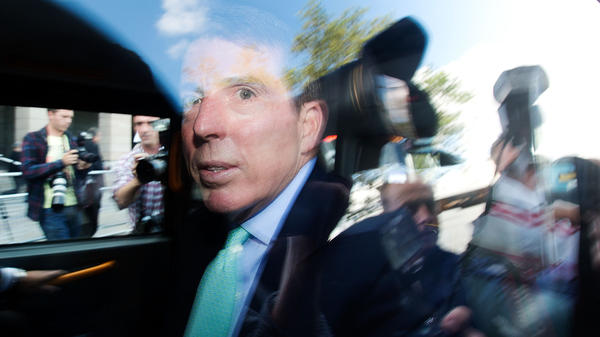 Former Barclays CEO Bob Diamond leaves Parliament amid a crowd of reporters in London on Wednesday. Diamond, who resigned  Tuesday, was questioned about a growing interest-rate manipulation scandal.