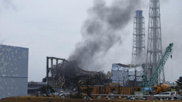 Smoke rises from Unit No. 3 of the stricken Fukushima Dai-ichi nuclear plant after the March 11, 2011 earthquake and tsunami.