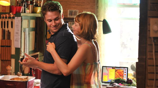 Seth Rogen and Michelle Williams as a husband and wife whose marriage becomes strained in <em>Take This Waltz</em>, the latest film from Canadian director Sarah Polley.