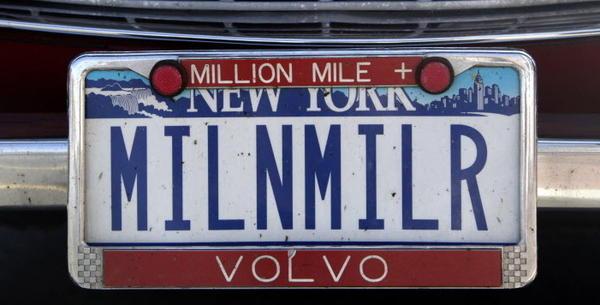 Irv Gordon Volvo's has a very appropriate vanity license plate.