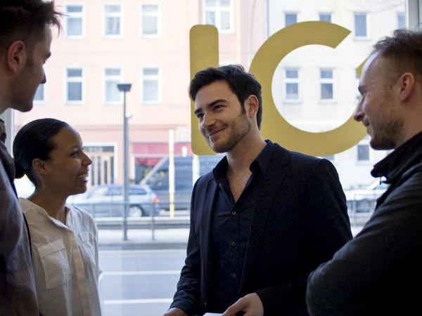 Simon Fabich (center) is CEO and co-founder of the Berlin-based online shopping startup Monoqi. Artsy and relatively inexpensive, Berlin is an up-and-coming city for European tech startups.