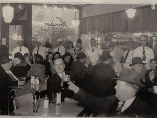 Patrons pack in at American Coney in this undated photo. 1942