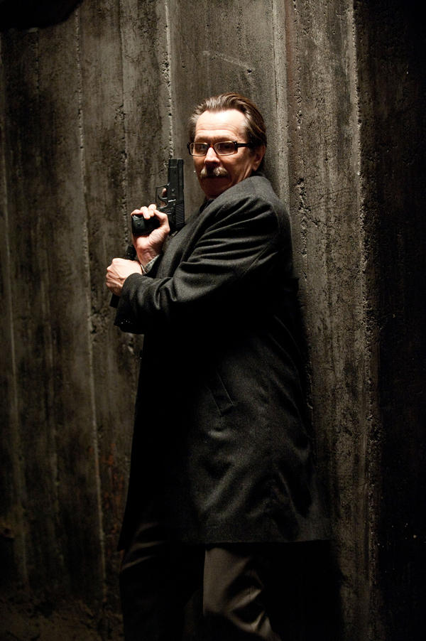 Gary Oldman as Commissioner Gordon in <em>The Dark Knight Rises</em>.