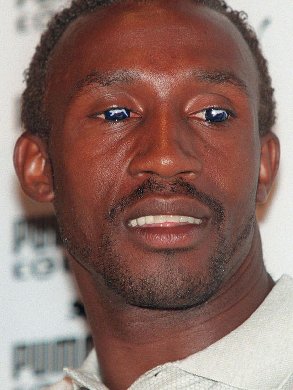British sprinter Linford Christie skirted Olympic ad regulations by wearing Puma logo contact lenses to an Atlanta Olympics news conference in 1996.