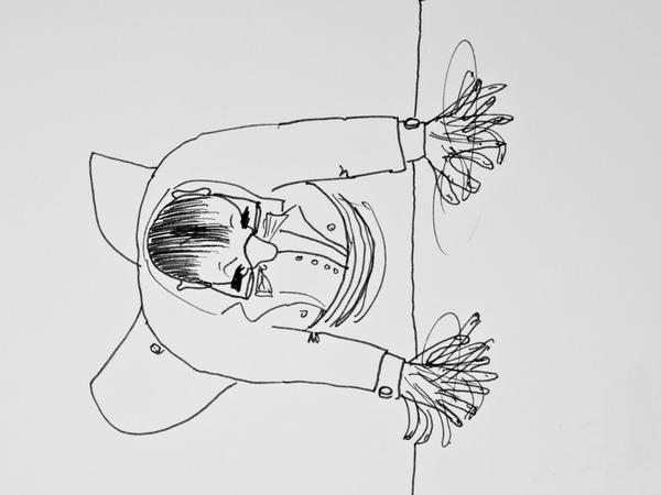 Misha Dichter's sketch of a pianist at work.
