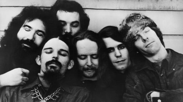 The Grateful Dead circa 1970. The band's members were quintessential rock hippies — but, a new exhibit reveals, savvy businessmen as well.