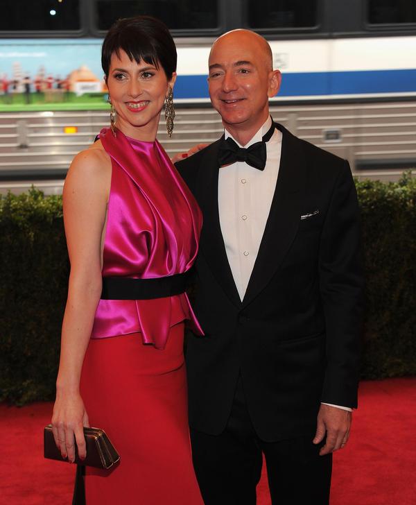 Mackenzie Bezos and Jeff Bezos.