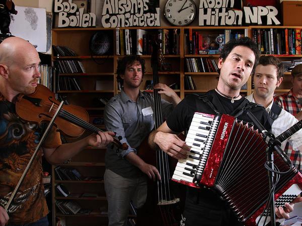 Rana Santacruz and band mates during their Tiny Desk Concert September 17, 2010.