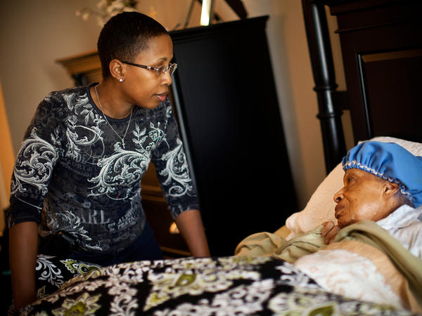 """Ida, who has dementia, needs around-the-clock care. Geneva's daughter, Yolanda Hunter, quit her lucrative job to become Ida's full-time caregiver. """"My daughter is a fantastic individual,"""" Geneva says of Yolanda. """"She said to me we are in this together ... and I don't know what I would have done without her."""""""