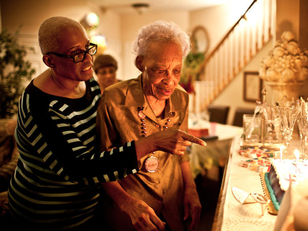 Geneva Hunter (left), who runs the secretarial operations for a Washington, D.C., law firm, decided to take a hands-on approach to her mother's care and moved Ida Christian, 89, into her home in Odenton, Md.