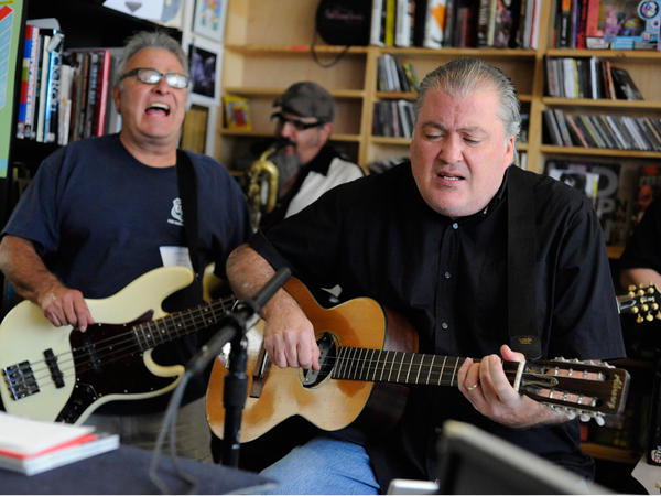 Los Lobos perform a Tiny Desk Concert at the NPR Music offices.