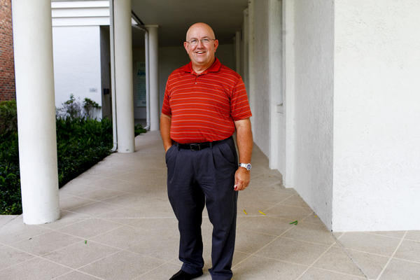 Claude Walker has been a pastor for 40 years and started working at the First Baptist Church in Plant City, Fla., three years ago. He supports Mitt Romney because of his family values.