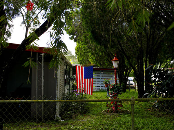 The home of Ed Faucher on the corner of First and Main in Lutz, Fla.