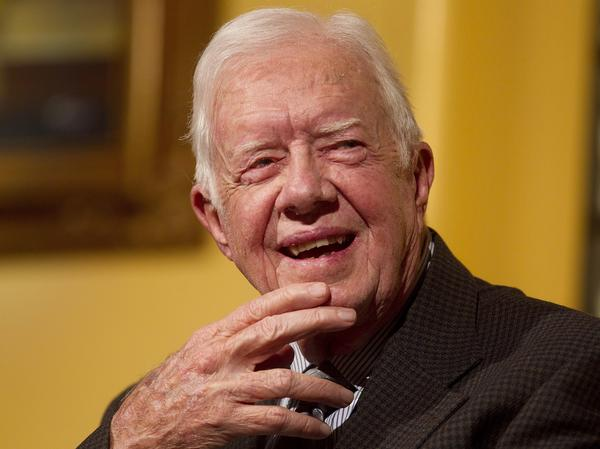Former President Jimmy Carter at the Carter Center in Atlanta in February 2012.