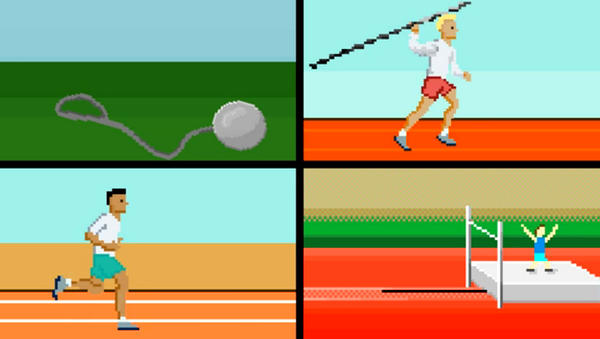 A video pays homage to the Olympic Games — and to the video games of the 1980s. It's one of many inventive videos around the web, inspired by the London Games.