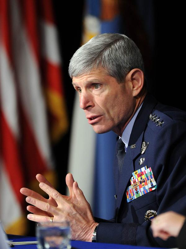 Gen. Norton Schwartz (shown here in October 2010) is stepping down as the top U.S. Air Force officer.