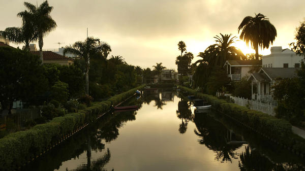 The canals in LA's Venice neighborhood serve as the scene of a murder in Robert Crais' 2011 novel, <em>The Sentry.</em>