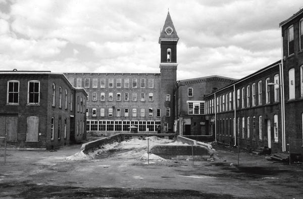 MASS MoCA is a complex of 26 renovated 19th-century factory buildings. The site was formerly the home of Arnold Print Works (1860-1942) and Sprague Electric Company (1942-1985).