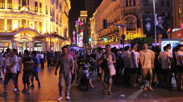 In 1999, Shanghai turned Nanjing Road, the city's most famous shopping area, into a walking street. On summer nights, thousands fill the street, surrounded by colonial architecture and riotous neon signs.