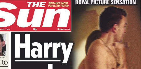 That's Harry, but not the prince: <em>The Sun</em> recreated the scene.