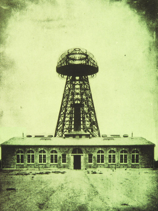 Tesla's Wardenclyffe lab building, seen in 1904. Tesla wanted to deliver free, wireless power to everyone in the world.