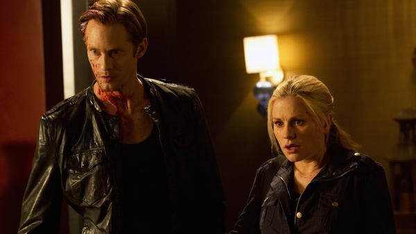 Eric Northman (Alexander Skarsgard) and Sookie Stackhouse (Anna Paquin).