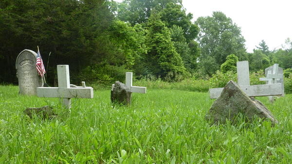 Tiny Grindstone Island has only one official cemetery.