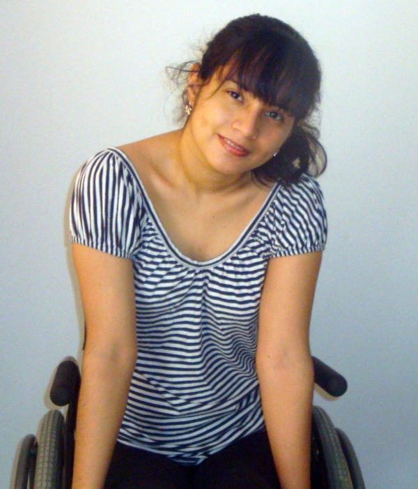 Naylea Omayra Villanueva Sanchez says her location near the Amazon rain forest in Peru, combined with a disability, makes a traditional university education impossible.