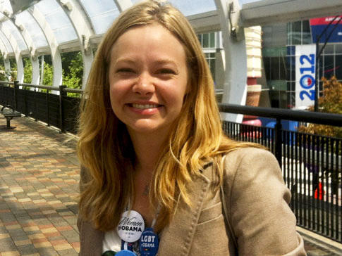 Whitney Babbitt, 26, from  Indianapolis, is a campaign manager and page for the state delegation.