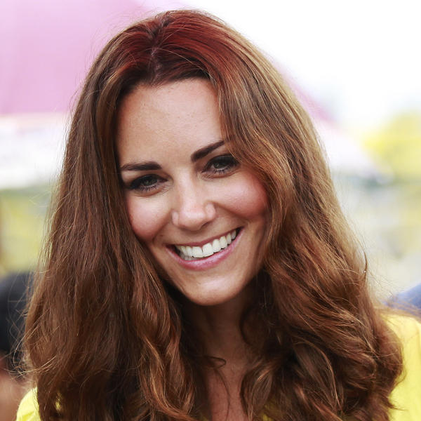 Kate Middleton, the Duchess of Cambridge, earlier today on a visit to the Solomon Islands.