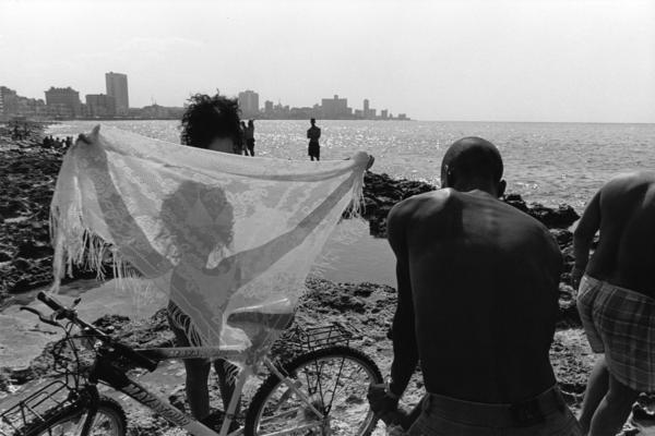 People at the Malecon, Havana, Cuba, 1998