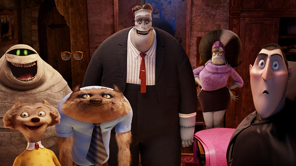 Murray the Mummy (Cee-Lo Green), The Invisible Man (David Spade), Frankenstein (Kevin James), Eunice (Fran Drescher), Dracula (Adam Sandler), Wayne (Steve Buscemi) and Wanda (Molly Shannon) are only a few of the ghoulish guests in <em>Hotel Transylvania</em>.