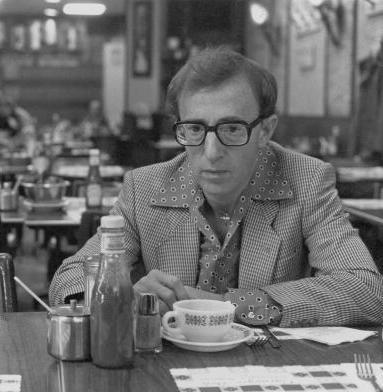 Actor-writer-director Woody Allen on the set of his 1984 film, <em>Broadway Danny Rose</em>.