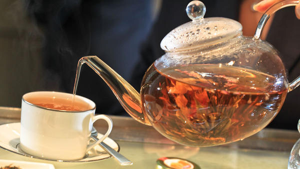 The Emperor's Himalayan lavender tea is popular at Washington, D.C.'s Park Hyatt Tea Room, but please don't put milk in it.