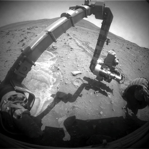 <strong>Spirit, 2010:</strong> When NASA's Spirit rover got stuck in Martian sand, it proved to be a lucky break: The spinning wheel churned up soil that provided evidence of rocks formed in the presence of water.