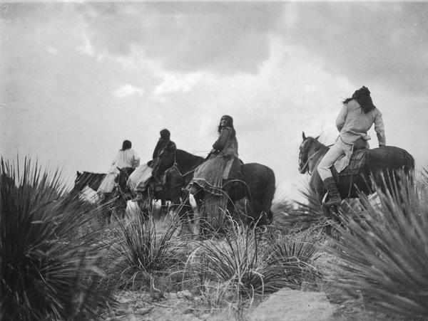 <em>Before the Storm—Apache,</em> 1906. In the arid high country of Arizona Territory, Curtis spent many months trying to capture Apache moments. Told the Apache had no religion, he was determined to prove otherwise.
