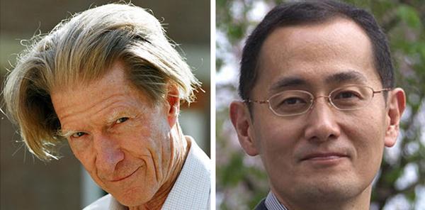 John B. Gurdon (left) and Shinya Yamanaka will share the prize, worth about $1.2 million.