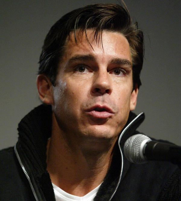 Former professional baseball player Billy Bean speaks on <em>Variety</em>'s Gay Hollywood Panel in West Hollywood in 2004. As a pro athlete, Bean kept his sexual orientation a secret.