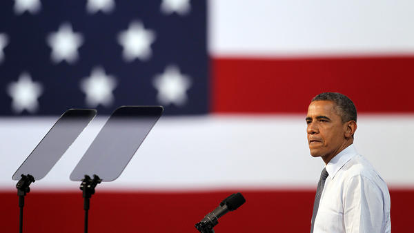 President Obama speaks to supporters last month during a campaign stop in Las Vegas.