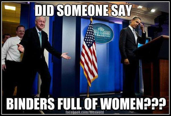Making fun using President Bill Clinton.