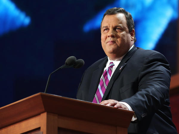 New Jersey Gov. Chris Christie delivers the keynote address during last month's Republican National Convention in Tampa, Fla. Christie's election in 2009 was part of the first wave of Republican gubernatorial victories.