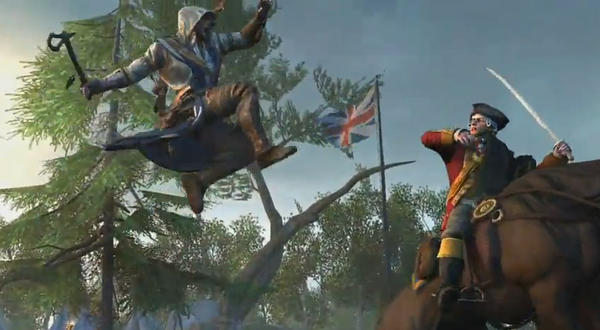 Connor, who is British and Native American, is the new protagonist in <em>Assassin's Creed III.</em>