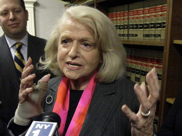 Edith Windsor, whose case led to an appeals court in Manhattan striking down the Defense of Marriage Act.