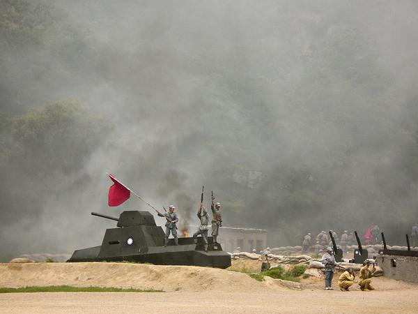 """""""The Defense of Yan'an"""" is a whizbang performance that includes lots of fighting, an antique tank and a plane zooming down a zip wire."""
