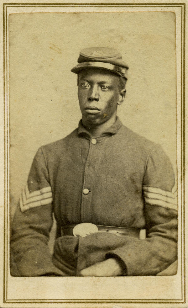 Sgt. George Mitchell's company (Company K of the 62nd U.S. Colored Infantry) was, according to Coddington's research, the last to fire arms in the Civil War.