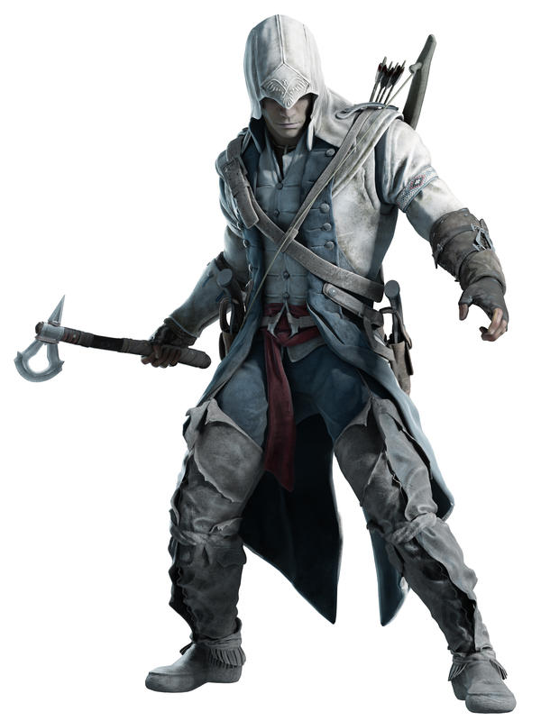 An artist's rendering of Connor, the Mohawk protagonist in <em>Assassin's Creed III</em>.