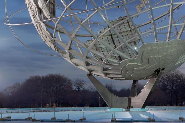 "New York 1964 world's fair, ""Peace Through Understanding,"" Unisphere, 2009"
